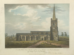 North View of the Church [at Hornchurch, Essex]